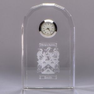 Crystal bevelled arch clock