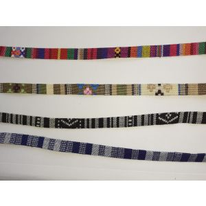 Multi patterned band for craft & jewellery making.   1 Meter