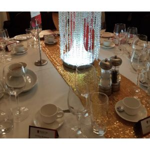 Gold or silver sequin table runners