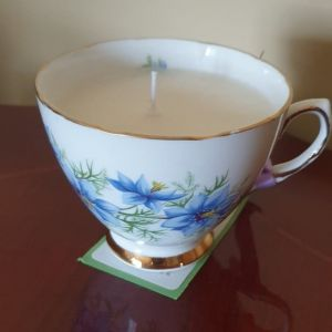 Handmade Soy Wax Aromatherapy Candle in Vintage Tea-Cup