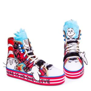 Irregular Choice Dr Suess Cat in the Hat 'You er than You' Hi-Top Trainers