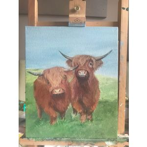 Twa Heighland Coos or Whoa, Ye'll Tak Some Coo's Ee Oot Wi' That Horn!