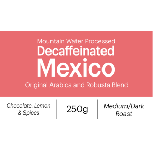 Decaf Mexico Whole Beans 250g
