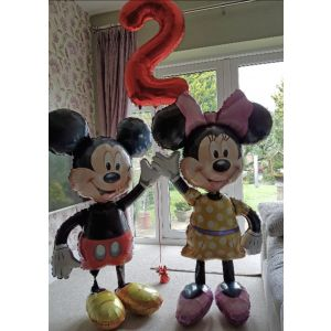 Mickey Mouse or Minnie Mouse large airwalker balloon - £30 for one £55 for both