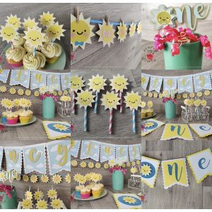 Sunshine Personalised 1st Birthday Party Pack