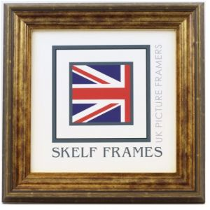 """Antique Gold Square Frame - 8"""" x 8"""" - With Glass"""