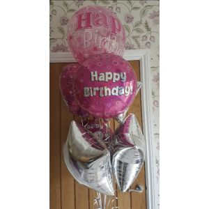 Happy Birthday foil balloon bouquets - prices start at £14.00