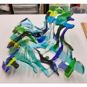 Art Wave in blues, greens and cool colours
