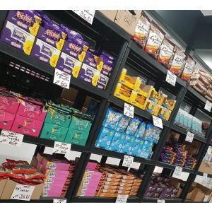 A wide selection of biscuits and cakes