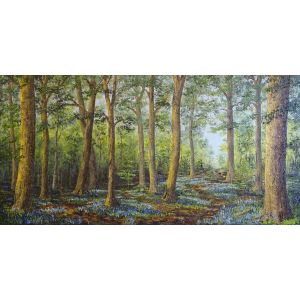 'Bluebell Magic'. Original oil painting by David Starley