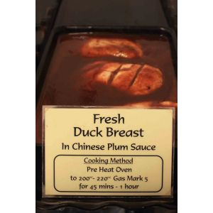 Duck Breast in Chinese Plum Sauce 1 portion