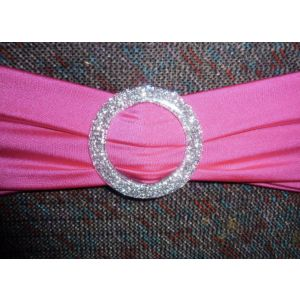 Stretch Chair Bands with sparkle buckles - SALE ONLY £12 PER TEN