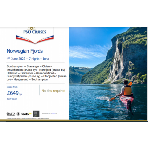 P&O Cruises ~ Norwegian Fjords