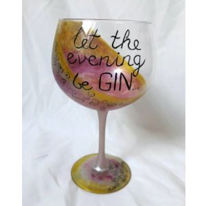Let the evening be-Gin gin glass.