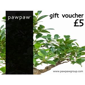 £25 Gift Voucher for £20 - Exclusive Offer for Pawpaw ShopAppy.com Customers