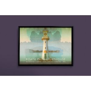 Roath Park Lighthouse graphic print