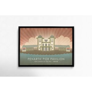 Penarth Pier Pavilion graphic print