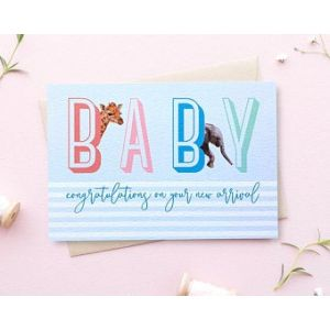 Arch & Ivy - Animal Baby Card