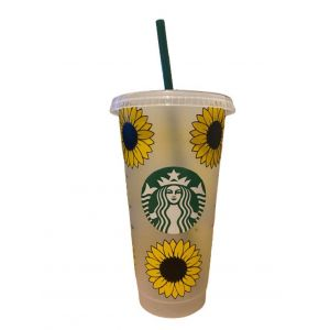 Starbucks Reusable Cold Cup UK Sunflowers