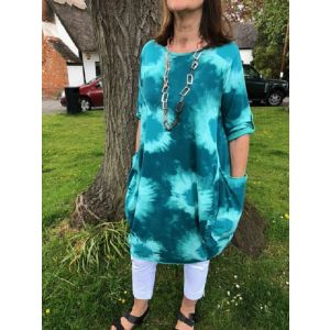 Made In Italy -  Tunic Dress - Green
