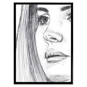 LANA DEL REY POSTER | A3 LINEART SKETCH POSTER