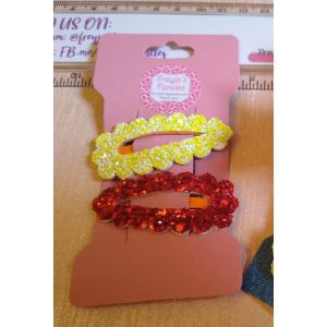 Scalloped hair clips