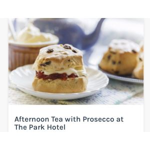 AFTERNOON TEA WITH PROSECCO AT THE PARK HOTEL - FROM £15.75