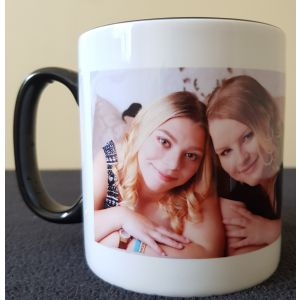 Your Photo Printed On A Mug - Personalised With A Name - Various Colours