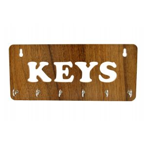 Wall Mounted wooden key holder with 'KEYS' Word Design