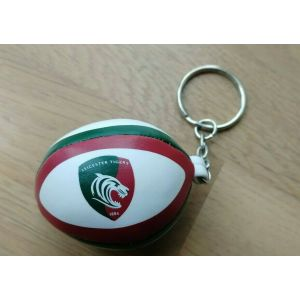 Gilbert Sponge Rugby Ball Keyring – Leicester Tigers