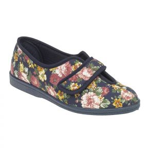 Navy floral 'WILMA'  Touch Fastening
