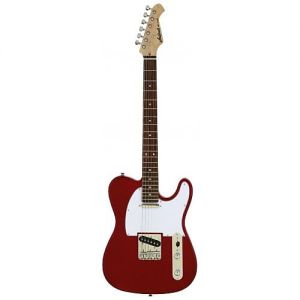 Aria 615 Frontier Candy Apple Red Guitar