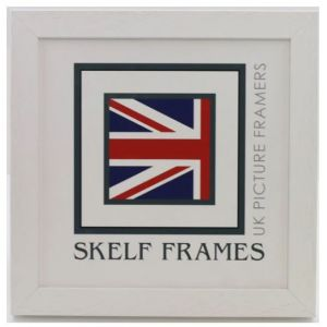 """White Phoenix Square Frame - 12"""" x 12"""" - With Glass"""