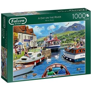 Falcon de luxe 11241 Day on The River 1000 Piece Jigsaw Puzzle