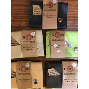 RNB recycled leather cyclists wallet