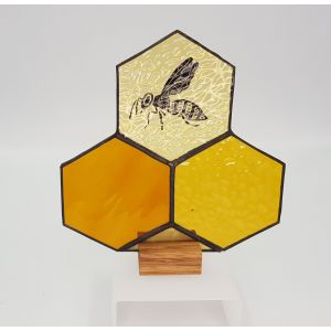 Stained Glass Bee Upstand