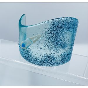 Fused Glass Curve - Diving