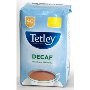 Tetley's decaffeinated teabags