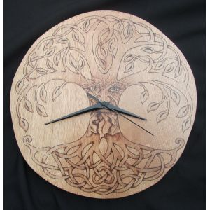 Green man tree of life ticking clock