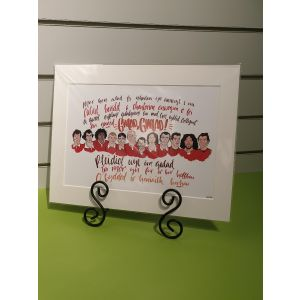 Wales Rugby Legends Print