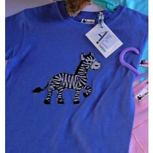 """Frenchies """"Zebra"""" embroidered T-shirt"""