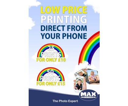 Printing direct from your phone (25 prints)