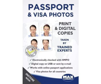 Passport and Visa photographs Prices from