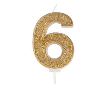 Sparkle Numeral Candles