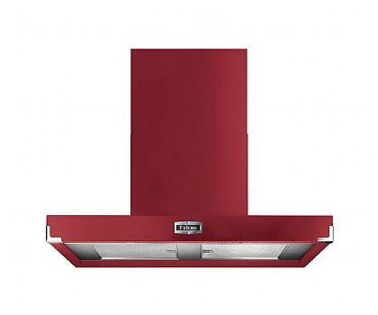 Falcon 91000 FHDCT1090CY/N 1090 Contemporary Chimney Hood in Cranberry & Brushed Chrome Trim
