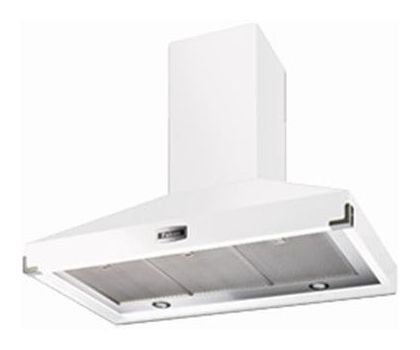 Falcon 90890 1092 Super Extract Chimney Hood in Ice White with Brushed Chrome Trim