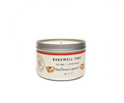 """Yorkshire Made """"Bakewell Tart"""" Candle in a Tin"""