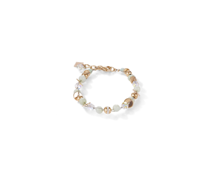 Coeur De Lion Twisted Pearls Amazonite & Stainless Steel Rose Gold Mint Green Bracelet