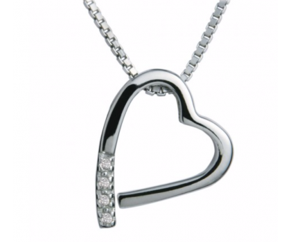 Hot Diamonds Sterling Silver Open Heart Pendant and Chain