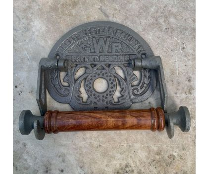 Reproduction GWR railway cast iron toilet roll holder